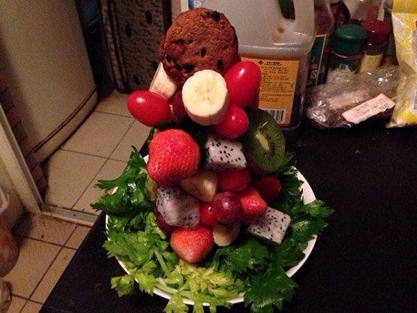 水果圣诞树的做法