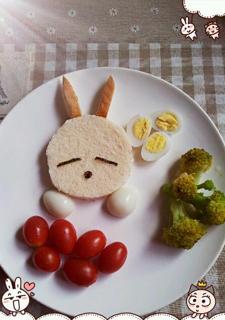 爱小妞做的可爱滴小兔子的做法_豆果美食
