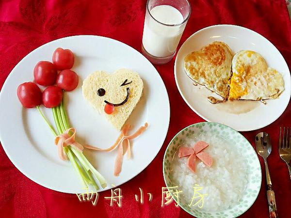 雨舟小厨房的郁金香可爱早餐做法的学习成果照