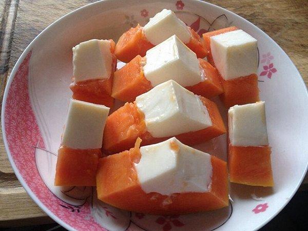 莉泥泥做的椰奶木瓜冻的做法