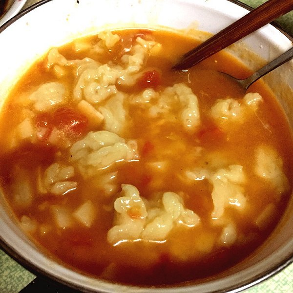 滨嫔的西红柿土豆疙瘩汤做法的学习成果照