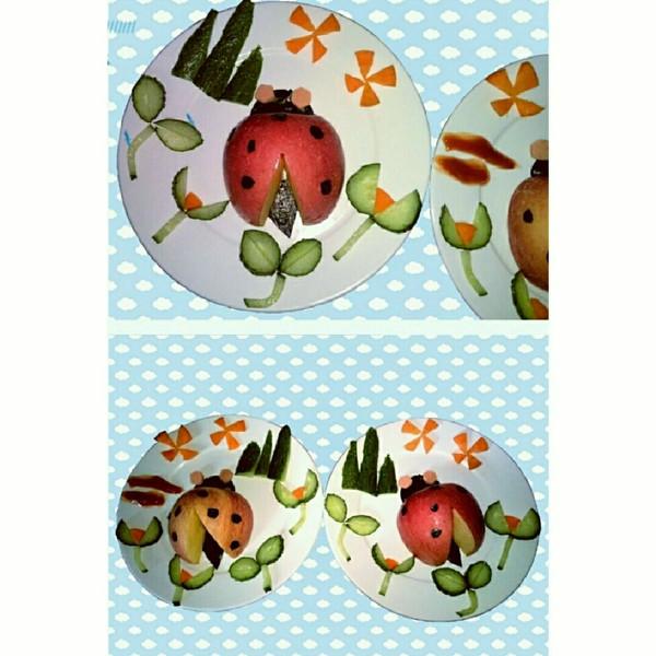 lemontreeph的水果拼盘~可爱的瓢虫宝宝做法的学习