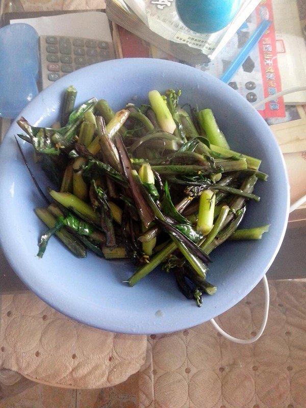 清炒红菜苔的做法