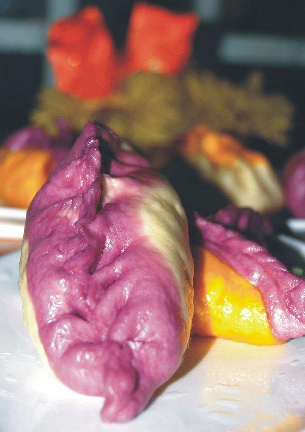紫薯柳叶蒸饺的做法