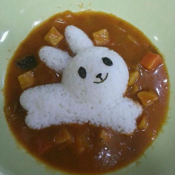 zora萧的熊猫咖喱饭团做法的学习成果照