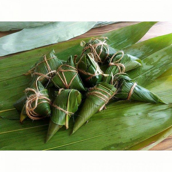 绿黍红花枣生粽的做法