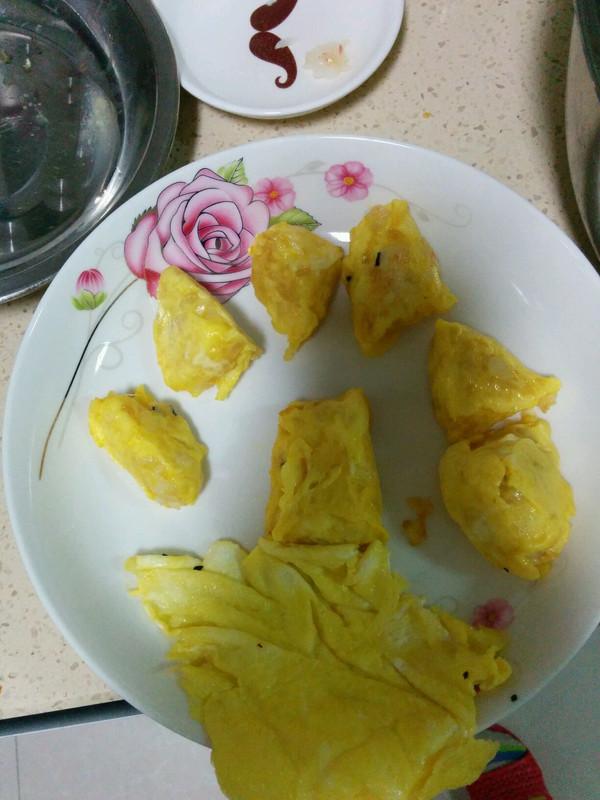 我可爱的小兔子做的q版蛋包饭!鸡蛋丸子米饭馅!鸡蛋一