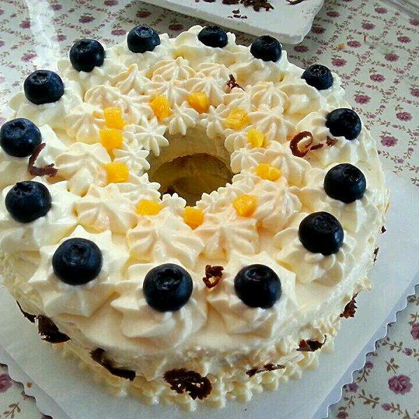 阳光加点橙做的水果蛋糕的做法图片