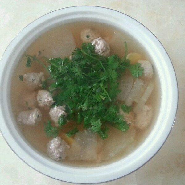 水帆秀子做的冬瓜丸子汤的做法