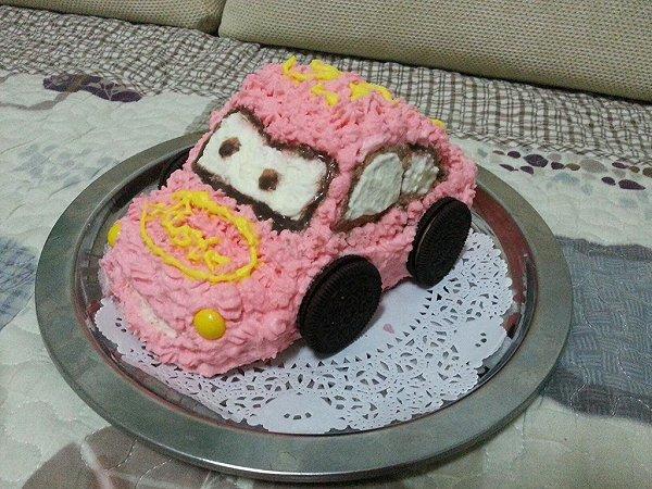 有有妈的可爱的小汽车生日蛋糕儿做法的学习成果照