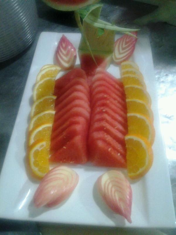 创新创意…做的缤纷水果拼盘的做法_豆果美食图片