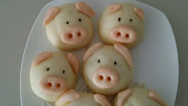 六月41的萌萌哒豆沙红薯猪猪包做法的学习成果照