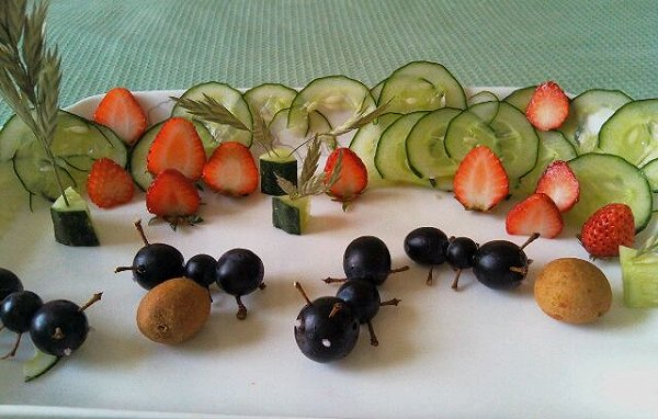 紫雨霖玲的果蔬摆盘做法的学习成果照