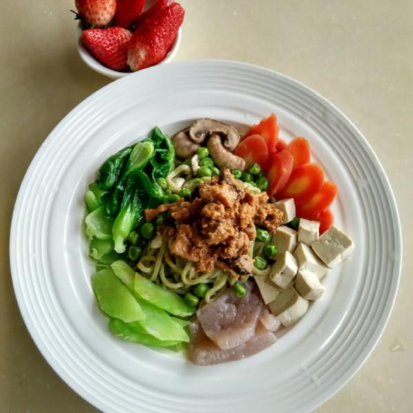 博美微新浪食营养师小暖的自制菠菜香菇拌作文美食江西肉酱图片