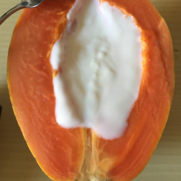 chrissyurri的香蕉木瓜酸奶做法的学习成果照