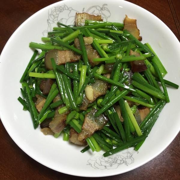 coco木子的韭菜花炒腊肉做法的学习成果照_豆果美食
