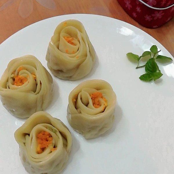 玫瑰花饺子的做法