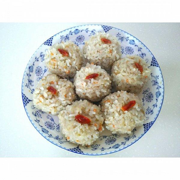 玉米胡萝卜糯米珍珠丸子的做法