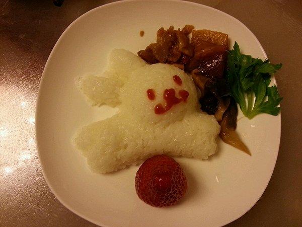 吃喝不落空做的造型米饭的做法
