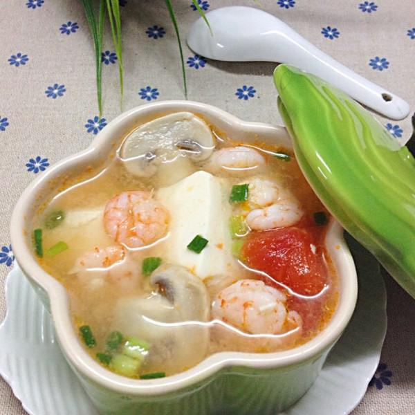 飘雪厨房做的虾仁豆腐汤的做法