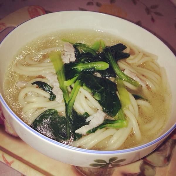 桓宝他妈的肉丝菜汤面做法的学习成果照