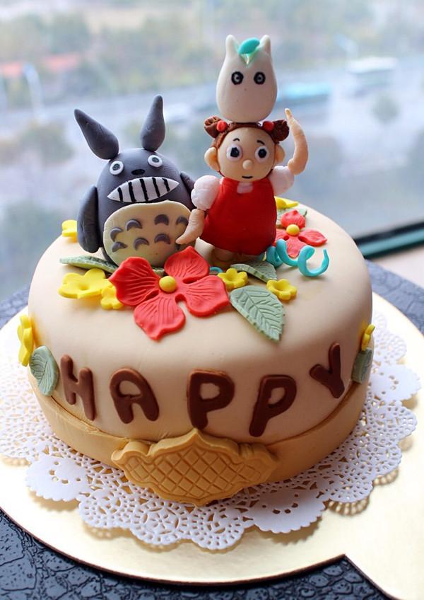 米苏0810的龙猫主题翻糖蛋糕做法的学习成果照