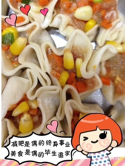 四色饺子的做法