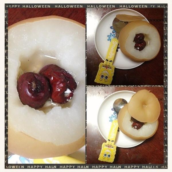 冰糖红枣蒸梨的做法