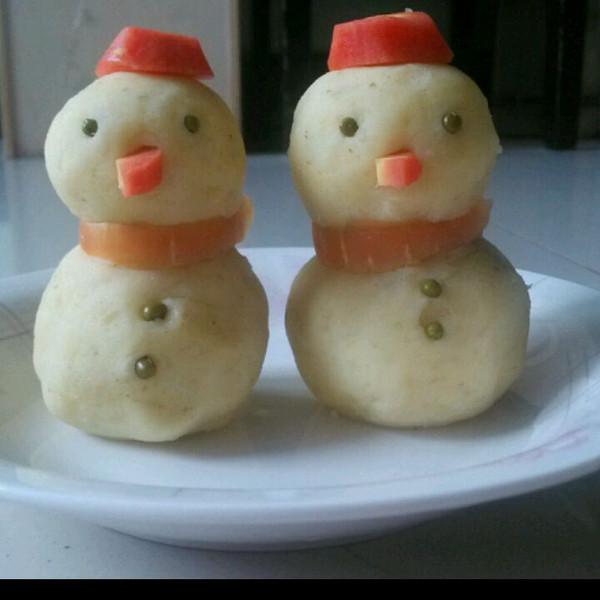 么么哒 做了一个可爱的土豆泥造型!