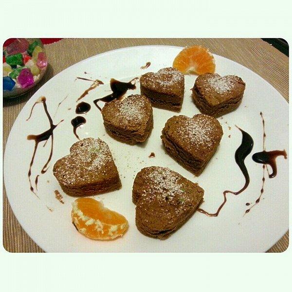 爱心巧克力蛋糕