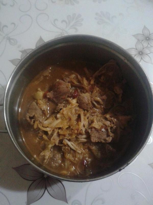 酸菜肥牛金针菇的做法