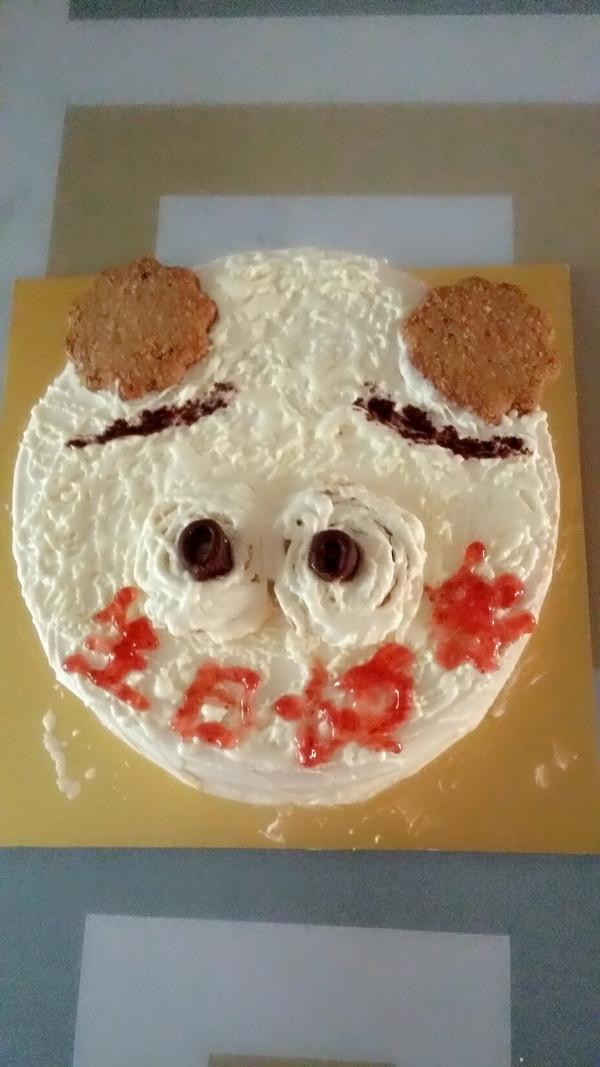 好朋友生日,属猪,就搞个应她称呼的蛋糕!