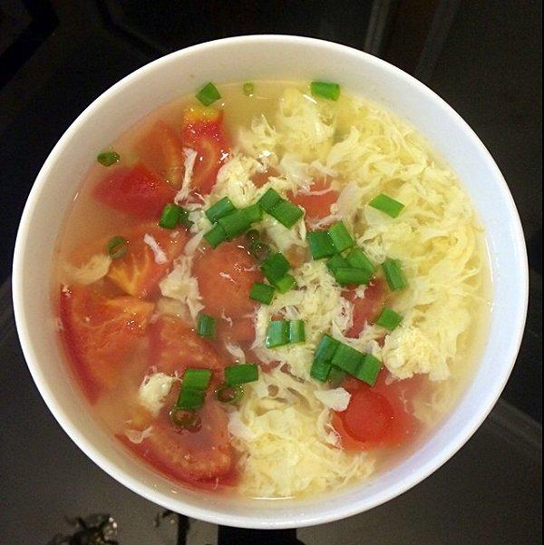 手绘 西红柿蛋汤