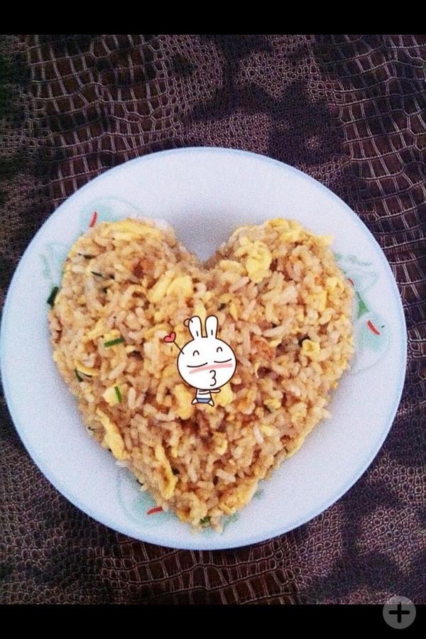木子他妻的爱心蛋炒饭做法的学习成果照_豆果美食