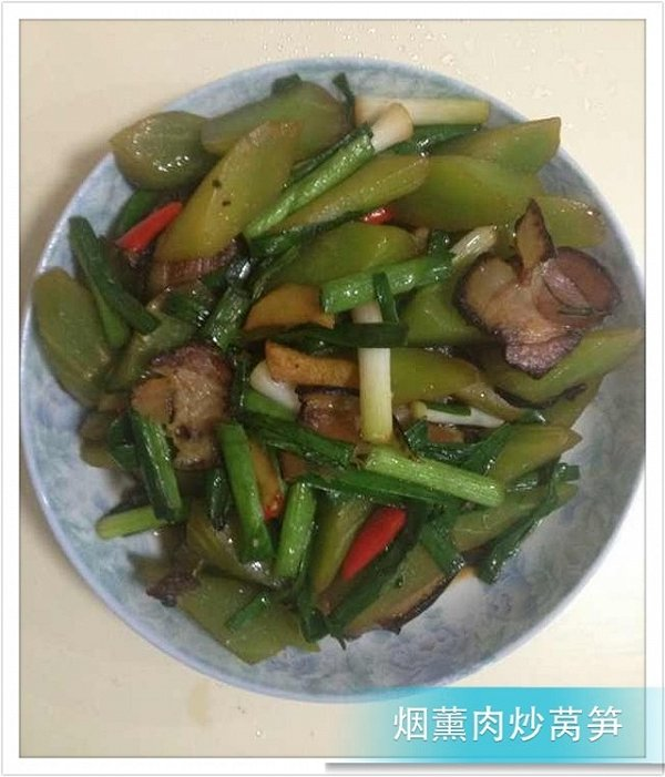 清炒莴笋的做法