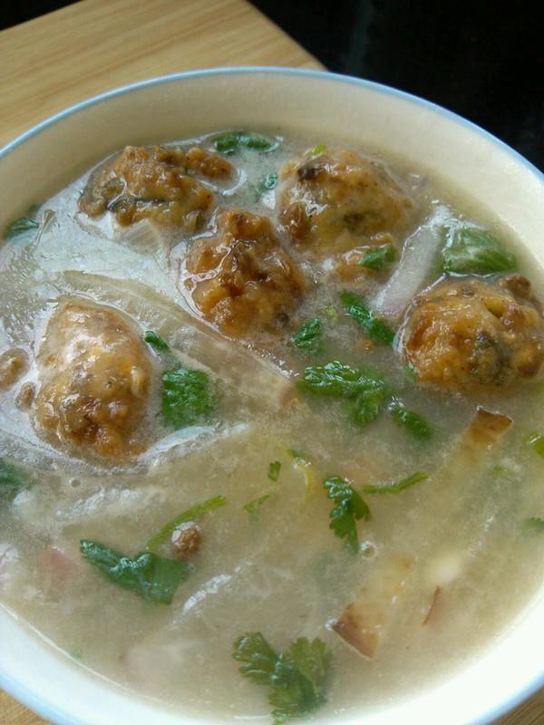 白萝卜丸子汤的做法