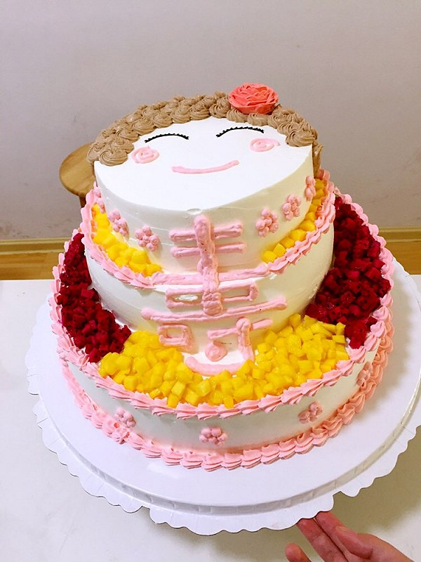 hylili的三层蛋糕做法的学习成果照