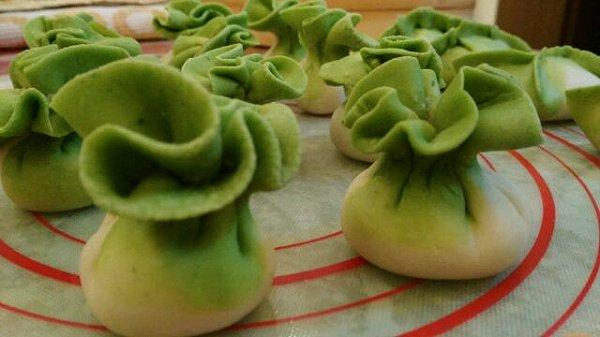 心暖花开她姐的翡翠白菜蒸饺做法的学习成果照