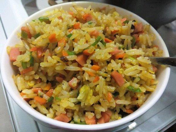 吃货成胖子的炒米饭做法的学习成果照