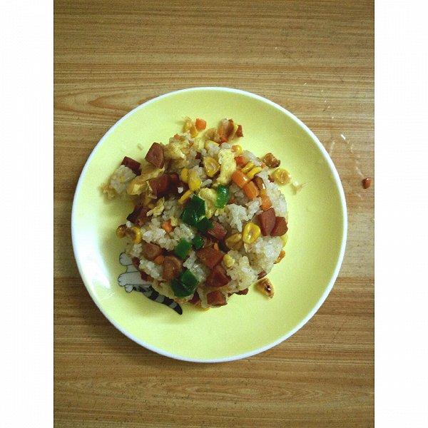 cbdq的玉米胡萝卜火腿蛋炒饭做法的学习成果