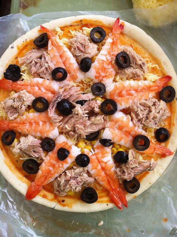 可爱娜娜的海鲜披萨做法的学习成果照_豆果美食