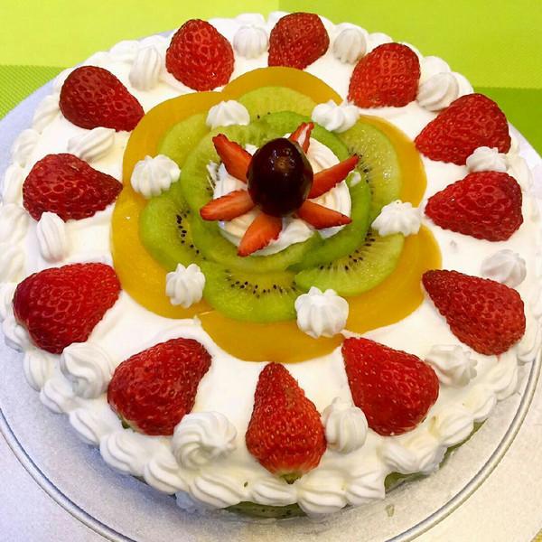 爱吃美食的玥猫猫的自制生日蛋糕做法的学习成果照_豆
