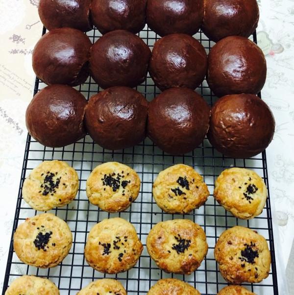 黑眼豆豆面包宫廷桃酥的做法