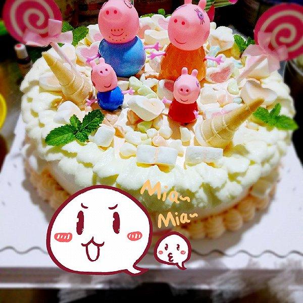 小猪佩奇场景蛋糕