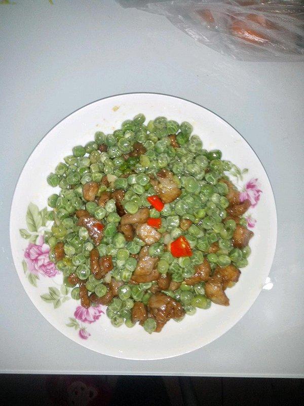 肉末豌豆的做法