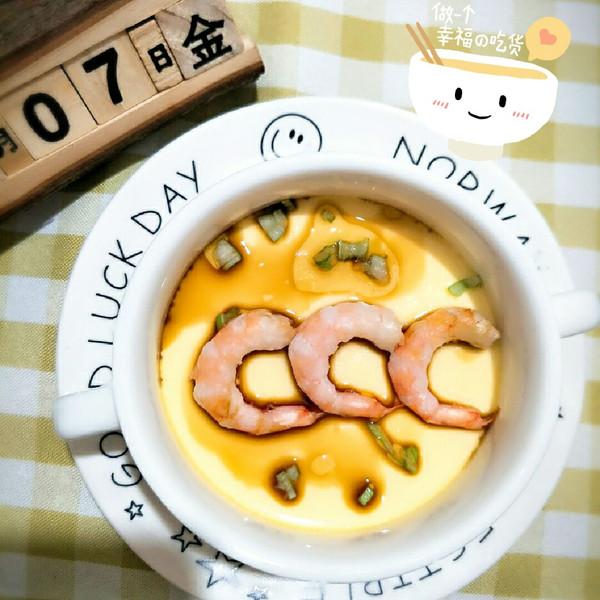 虾仁 蒸水蛋 自己做 更健康/2017/04/07 08:36 发自Android客户端