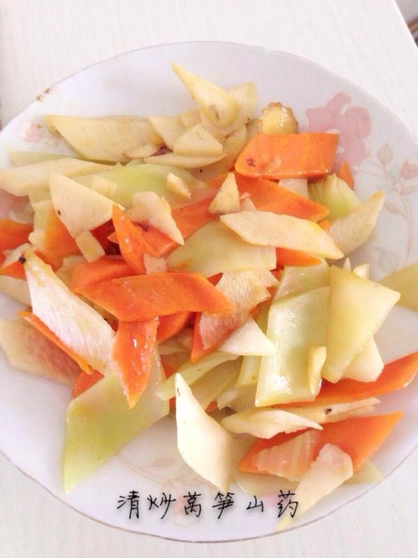 布夕夕的清炒萵筍山藥(附菱形片切法)做法的學習成果