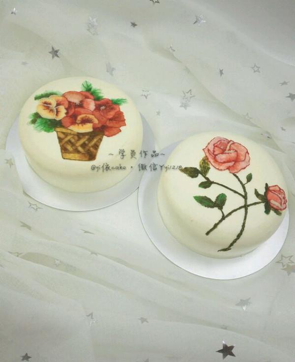 yi依然焙爱的yi依刺绣蛋糕做法的学习成果照