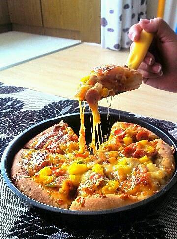 芝心饼边披萨的做法