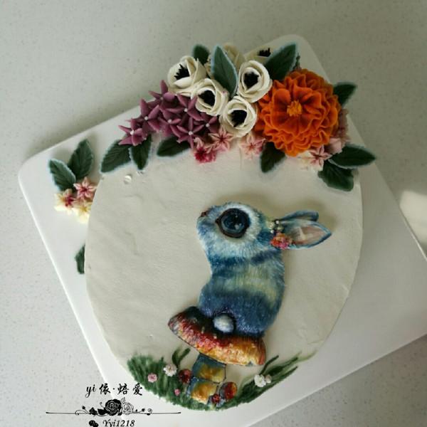 yi依刺绣蛋糕